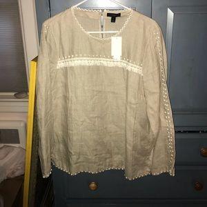 NWT j crew linen blouse